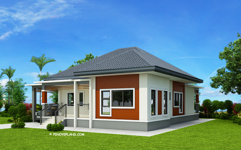 Simple and Elegant Small House Design With 3 Bedrooms and 2 Bathrooms