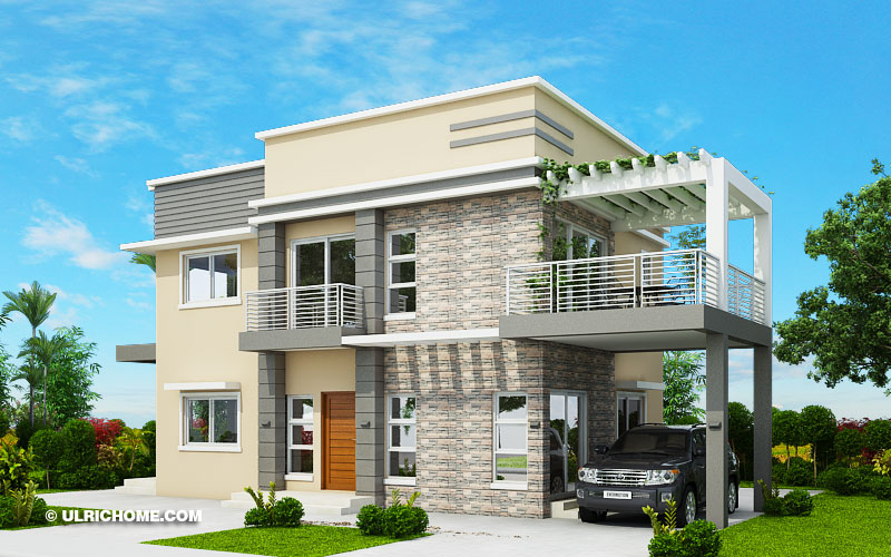 Modern House Design With Four Bedrooms And Roof Deck Ulric Home