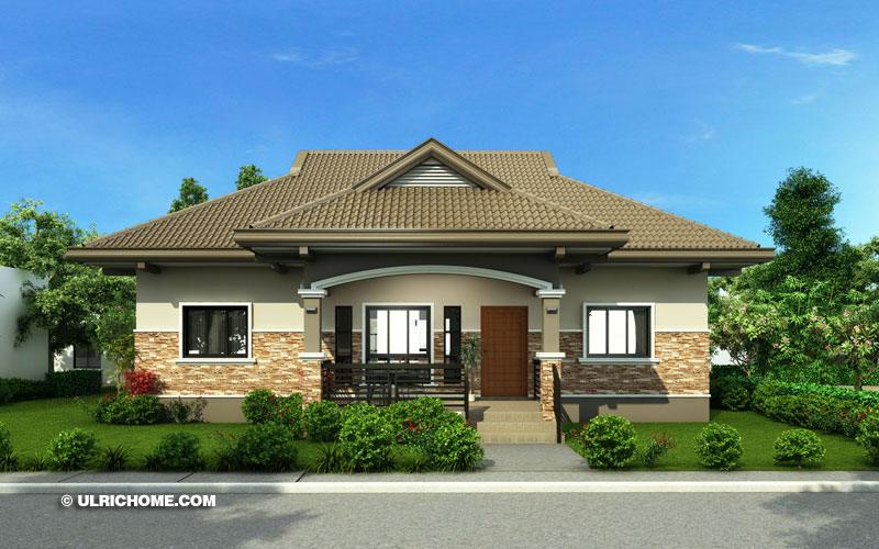 Elegant And Modern House Design With Three Bedrooms - Ulric Home