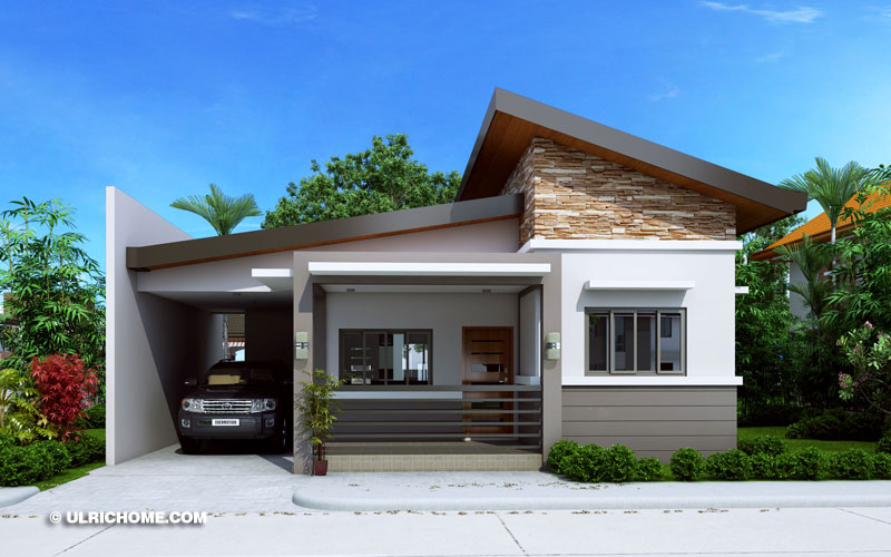 Modern Three Bedroom Small House Design - Ulric Home