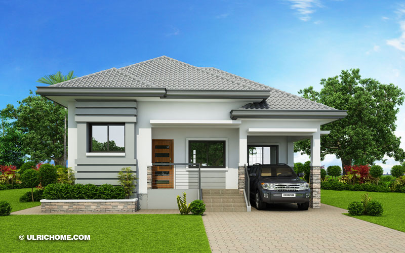 Modern Bungalow House Design With Three Bedrooms - Ulric Home