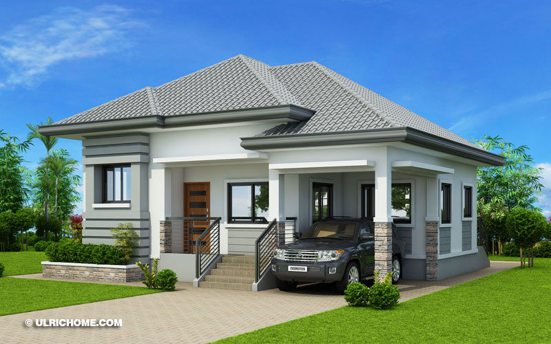 Modern Bungalow House Design With Three Bedrooms Ulric Home