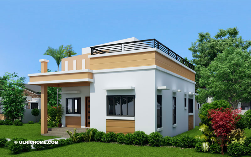 Modern Home Design With Two Bedrooms And Wide Roof Deck Ulric Home