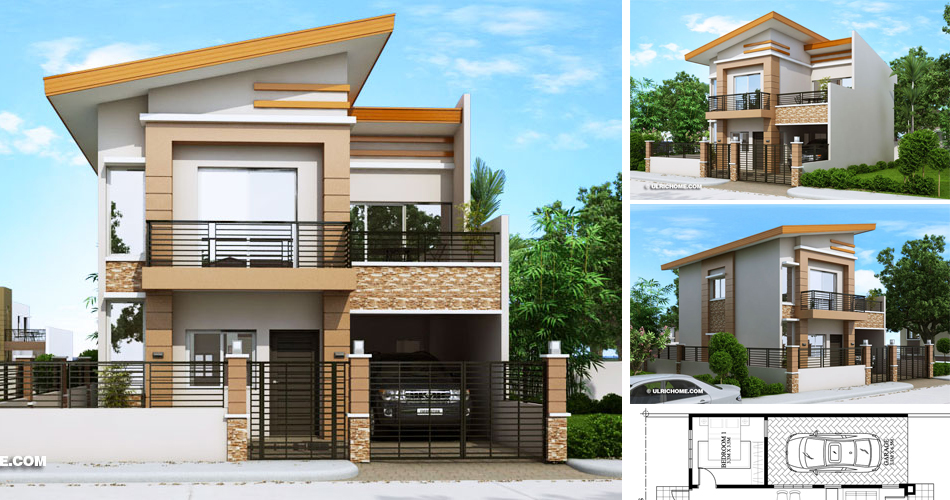 Contemporary House Design With Four Bedrooms And Two Toilet And Baths Ulric Home