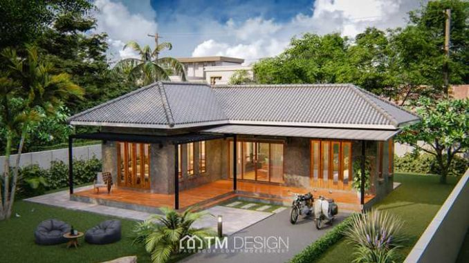 One Storey House Design With 2 Bedrooms And 1 Bathroom Ulric Home