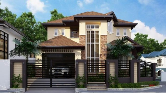 Live In Comfort And Luxury With This Two Story Residential House Plan Ulric Home