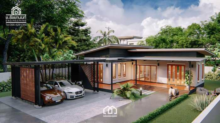 Modern Villa Style Single Storey House With Two Bedrooms Ulric Home