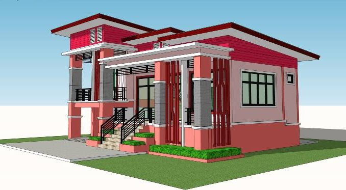 Modern Elevated Two-Bedroom One Storey House - Ulric Home