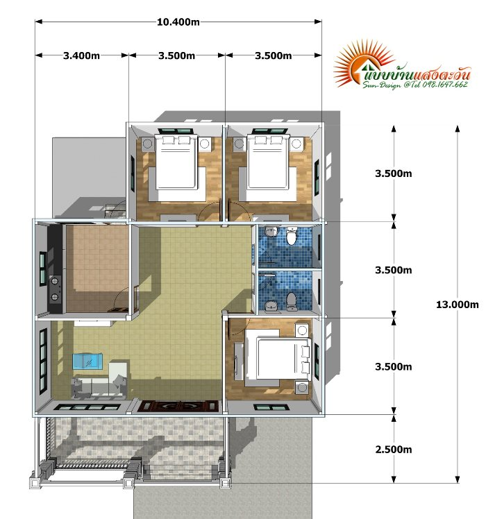 For Those On A Budget Elegant 3 Bedroom Single Storey House Ulric Home