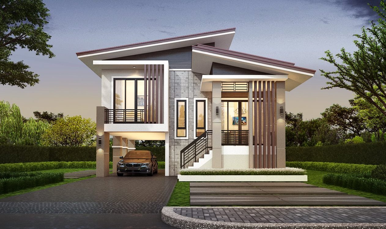 02 - 25+ Modern 3 Bedroom House Plans With Garage  Pictures