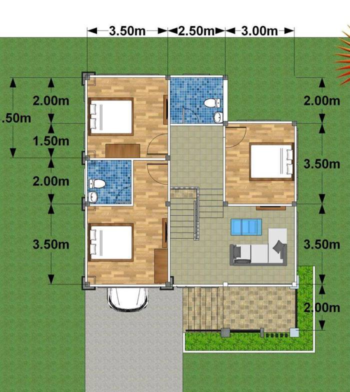 Modern Three Bedroom Two Story House With 2 Car Garage Ulric Home