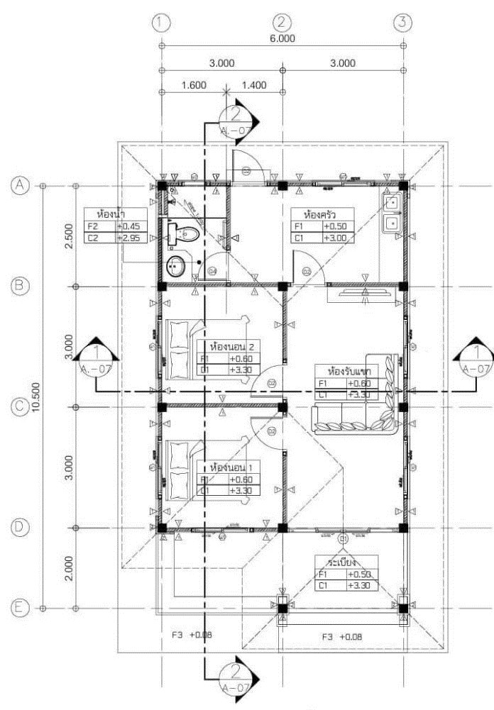 Comfort On A Budget: Modern Bungalow House Plan With Two