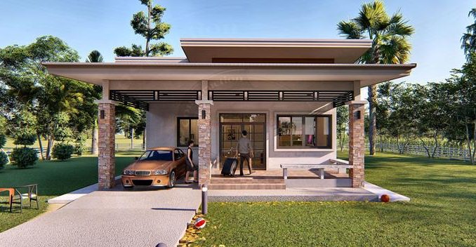Simple And Elegant Two-Bedroom Modern House Plan - Ulric Home