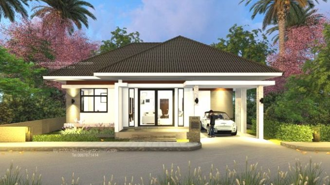 Contemporary Three Bedroom Bungalow With A Hip Roof Ulric Home