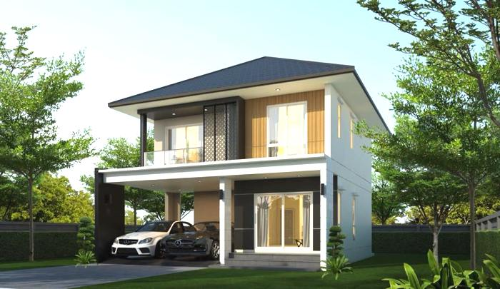 Simple And Affordable Three Bedroom Double Storey House Design Ulric Home