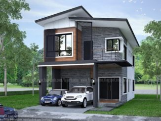 Elongated Two Storey House Design With Four Bedrooms Ulric
