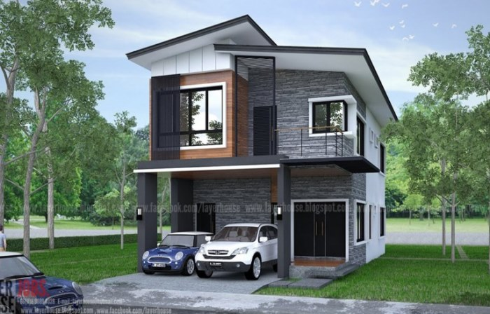Elongated Two-storey House Design With Four Bedrooms - Ulric Home