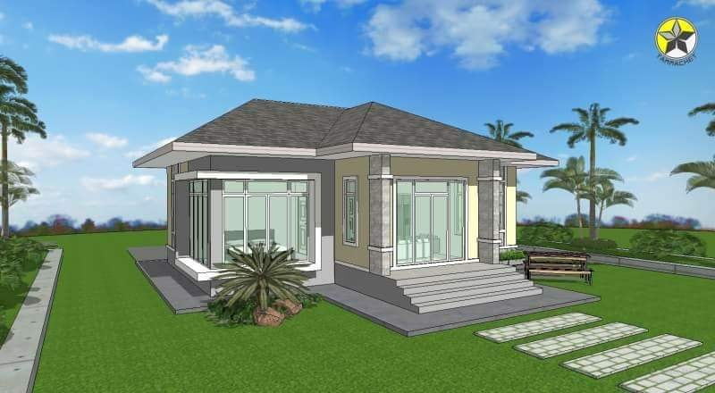 One Storey House Hip Roof 02 Ulric Home
