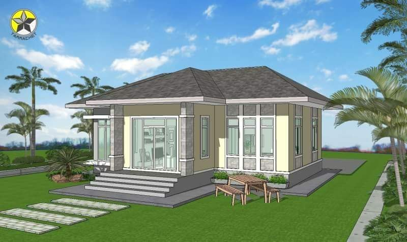 One Storey House Hip Roof 04 Ulric Home